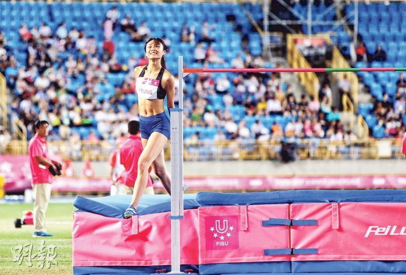 楊文蔚2017年出戰世大運時得第8名,仍笑得燦爛。