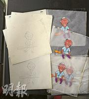 以前製作動畫依賴紙和筆,每一個動作幾乎都要畫出,再由原稿(左)上色到膠片(右)。